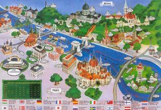 Budapeşte Şehir Haritası - Gezilecek Yerler