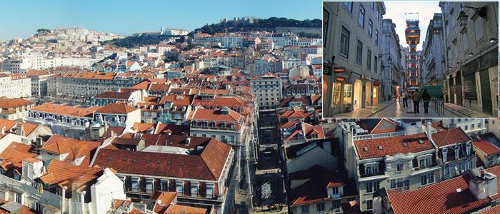 Tarihi Santa Justa Asansörü Lizbon – Portekiz
