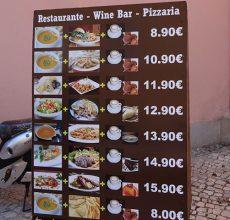 Lizbon Sintra Bölgesi Yemek Fiyatları