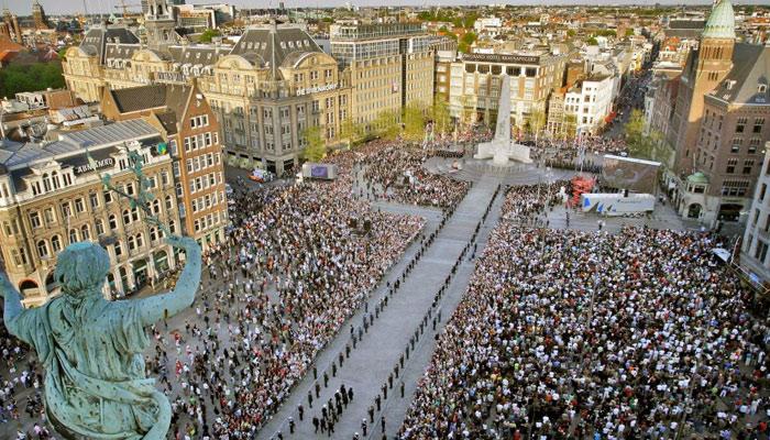 Amsterdam Dam Square - Nerede