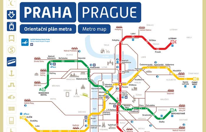 Prag Metro Haritası