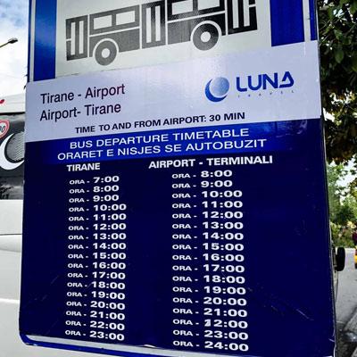 Tiran Havaalanı Şehir Merkezi Ulaşımı
