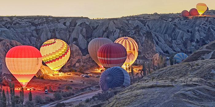Kapadokya Balonları Uçuş Öncesi